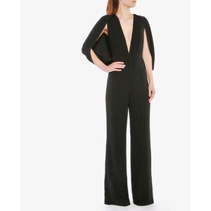 MISHA COLLECTION 'Olympia' Cape Sleeve Jumpsuit.